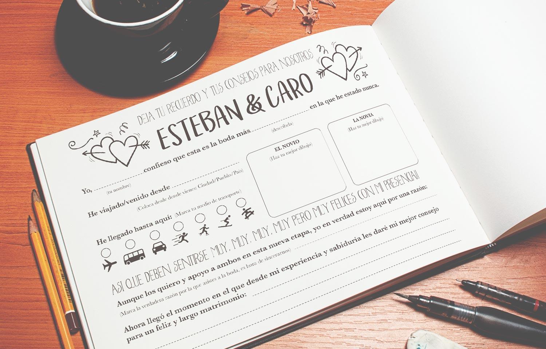 hojas para escribir guestbook